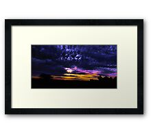 Nightfall in middle Earth...... Framed Print