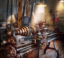 Machinist - Fire Department Lathe by Mike  Savad