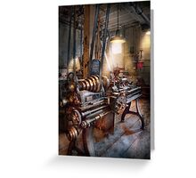 Machinist - Fire Department Lathe Greeting Card