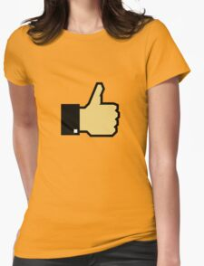 I like this! (Thumb Up) Womens Fitted T-Shirt