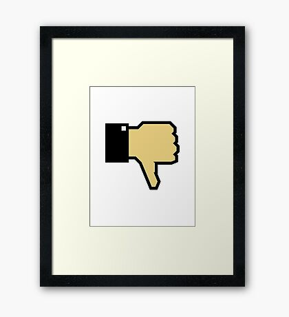 I don't like this! (Thumb Down) Framed Print
