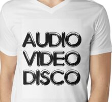 Audio Video Disco Mens V-Neck T-Shirt