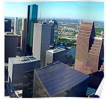 Downtown Houston Texas (office view) Poster