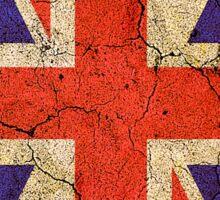 Ragged Britannia Union Jack Flag T-shirts and Stickers Sticker