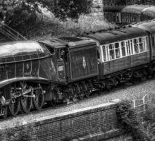 Sir Nigel Gresley Locomotive - Black and White Sticker