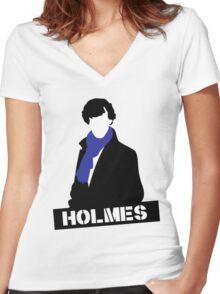 Sherlock Benedict Cumberbatch Holmes  Women's Fitted V-Neck T-Shirt