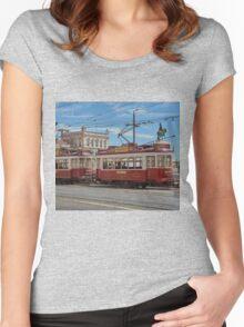 Lisbon tram Women's Fitted Scoop T-Shirt