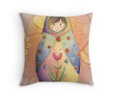 Babushka  Throw Pillow