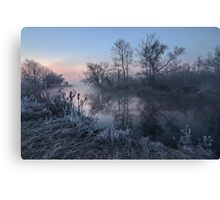 First Light on River Canvas Print