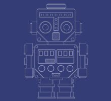 Retro Robot white Unisex T-Shirt
