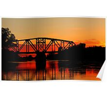 Sunset Over the Taylor Bridge Poster