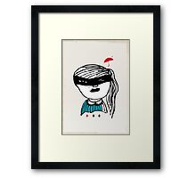 girl with a mask Framed Print