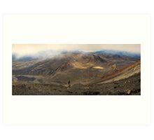 Mt Tongariro Pano Art Print