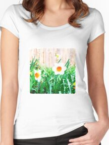 Painted Daffodils Women's Fitted Scoop T-Shirt