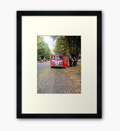 Clipper Buses in Ross Framed Print