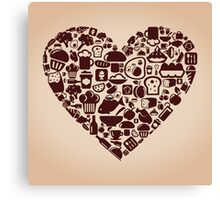 Heart food Canvas Print