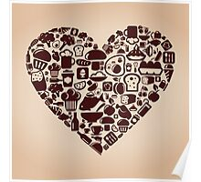 Heart food Poster