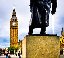 Never Surrender - Winston Churchill & Big Ben by Mark Tisdale