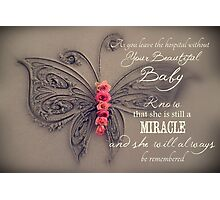 Memory Box Card - Baby Girl Photographic Print