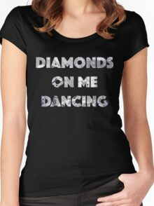 Diamond Dancing   Women's Fitted Scoop T-Shirt