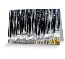 Ice Forest Greeting Card