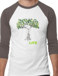 BIKE:LIFE in white Men's Baseball ¾ T-Shirt
