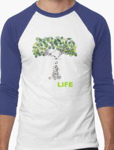BIKE:LIFE in white Men's Baseball ¾ T-Shirt