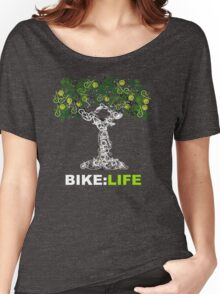 BIKE:LIFE in white Women's Relaxed Fit T-Shirt