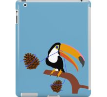 Two Pinecones And A Toucan (Blue) iPad Case/Skin