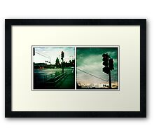 Stops Along the Way Framed Print