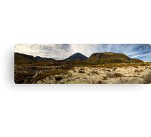 Mt Ngauruhoe pano Canvas Print