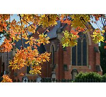 Autumn church Photographic Print
