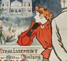 Théophile Alexandre Steinlen Affiche Midi Vernet les Bains Sticker