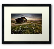 Barge Past Framed Print