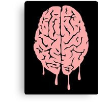 Brain melt - vector illustration of melting brain! Canvas Print