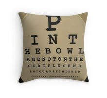 Read the fine Print :) Throw Pillow