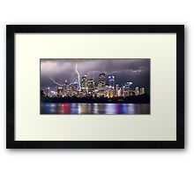 Lightning Over Sydney City Framed Print