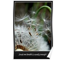 Just one big breath is usually enough.(Greeting card/Postcard) Poster
