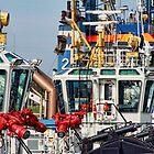 Port Scene Tugboats by Peet de Rouw