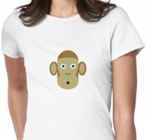 Surprised Monkey Womens Fitted T-Shirt