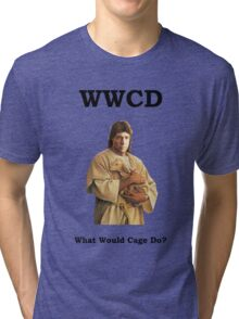 WWCD - What Would Cage Do? Tri-blend T-Shirt