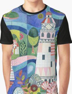 Island Lighthouse Graphic T-Shirt