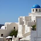 Church & Houses, Oia, Santorini by Carole-Anne