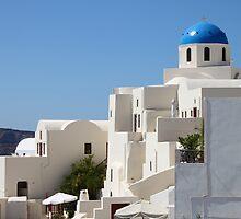 Church & Houses, Oia, Santorini by Carole-Anne