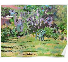 Garden in Summer, Acrylics on Canvas Board Poster