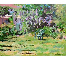 Garden in Summer, Acrylics on Canvas Board Photographic Print