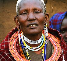 Older Maasai Woman by Carole-Anne