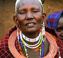 Older Maasai Woman by Carole-Anne