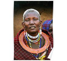 Older Maasai Woman Poster