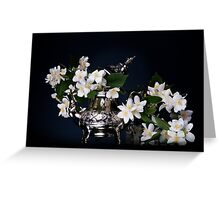 Jasmine bouquet in the teapot Greeting Card